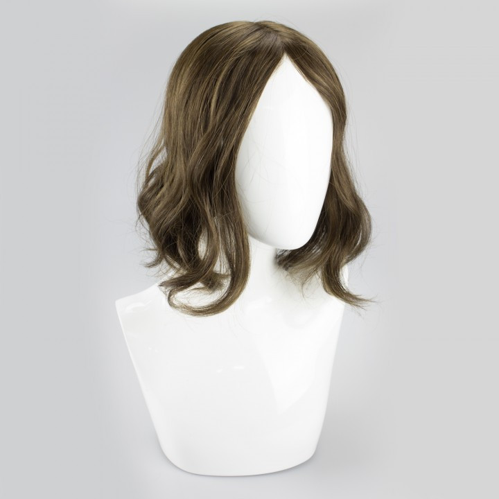 Hair topper to add volume to thinning hair