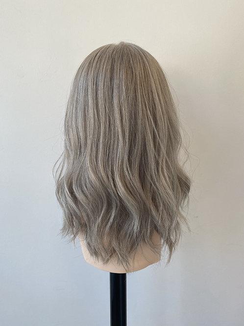"16"" Luxury European Hair Wig - Natural Grey"