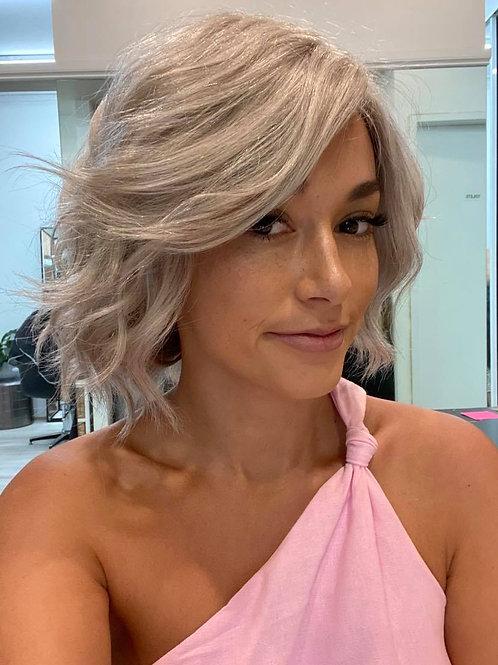 "12"" Luxury European Wig - Natural Grey"