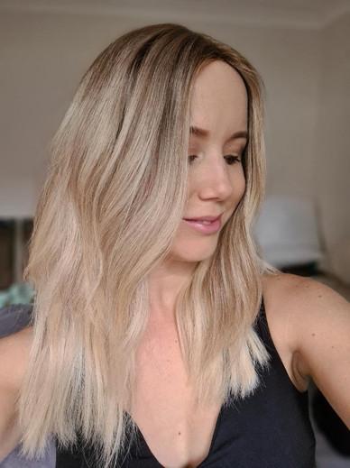 Custom Blonde Luxury European Hair Wig .