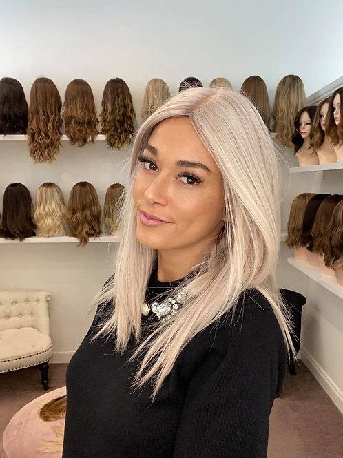 "20"" Luxury European Wig - Cool Ash Platinum Blonde Wig"