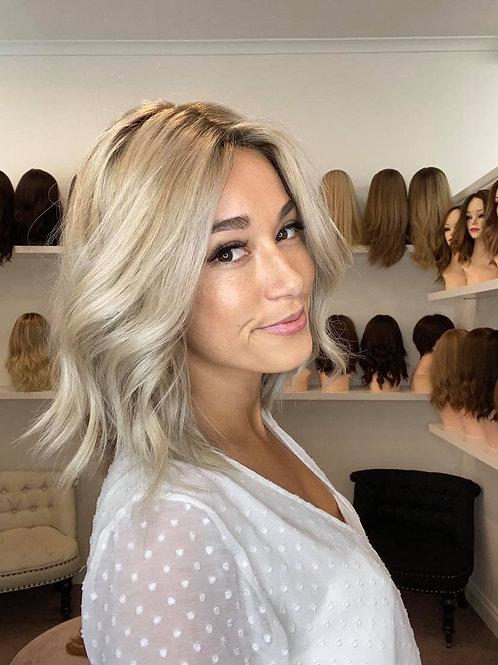 """14"""" Luxury European Wig -Custom Platinum Blonde"""