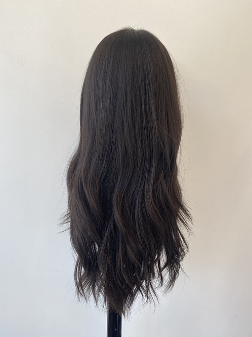 "20"" Light Density Premium Remy Wig - Soft Black"