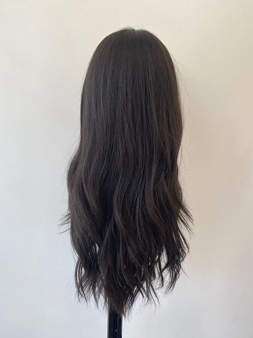 "22"" Light Density Premium Remy Wig - Soft Black"