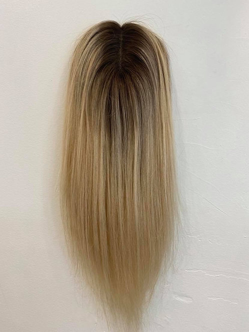 "14"" Luxury European Topper - Golden Blonde w/ Roots"