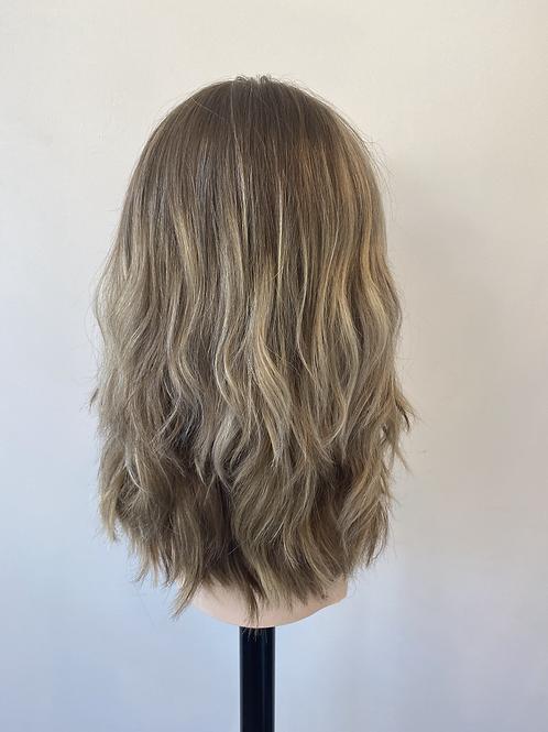 "16"" Luxury European Hair Wig - Layered Custom Blonde Baylage"