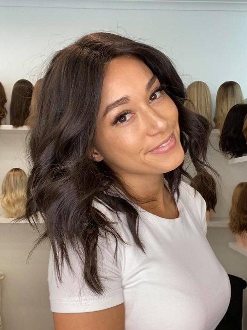 "14"" Luxury European Wig - Soft Black"