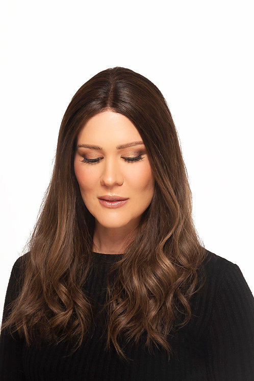 """20"""" Medium Brown with subtle Balayage Invisible Lace Wig"""