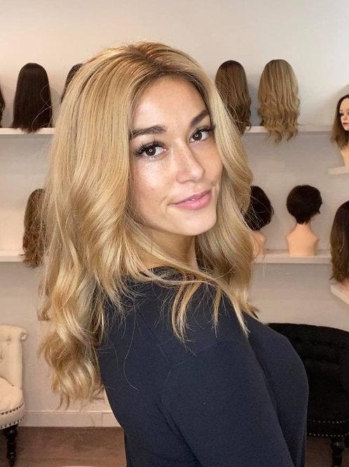 "20"" Luxury European Wig - Ultra Light Density - Blonde Custom #16"