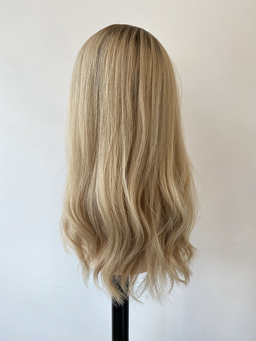 "18"" Light Density Premium Remy Wig - Custom Cream Blonde"
