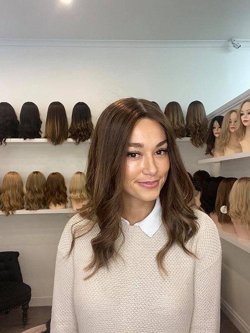 "18"" Premium Remy Ultra Light Wig - Medium Brown Balayage"