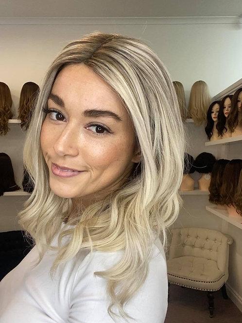 """18"""" Luxury European Wig - Lace Top - Ultra Light Density - The Fleur"""