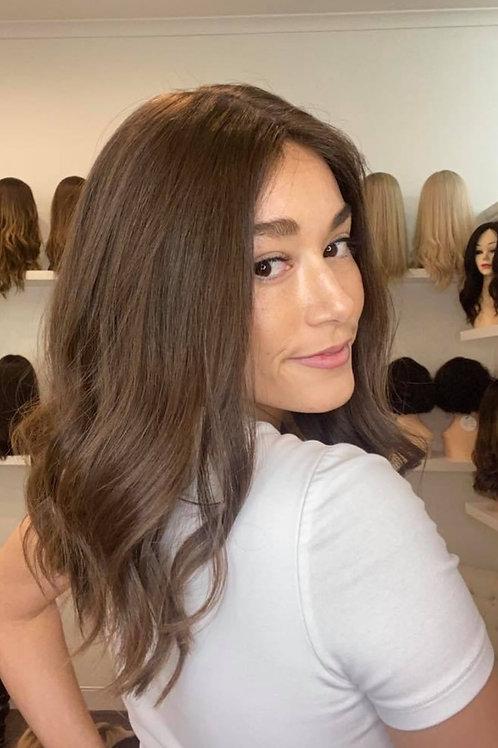 "16"" Luxury European Wig - Ultra Light Density - Brown #6"