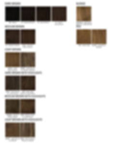 Virgin European Real Human Hair Colour Chart