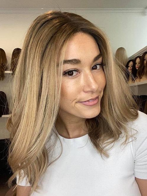 "18"" Luxury European Wig - Lace Top - Ultra Light Density  - The Mia"