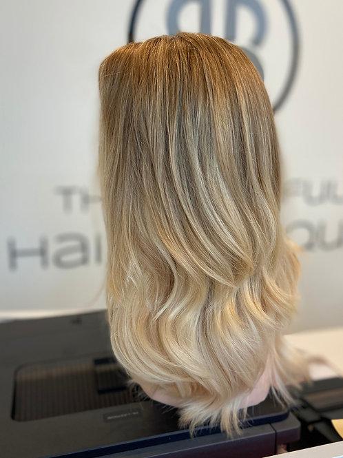 "Custom Blonde Balayage - 18"" Luxury Virgin European Human Hair Wig"