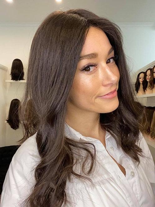 "18"" Luxury European Wig - Ultra Light Density - Dark Brown #4"