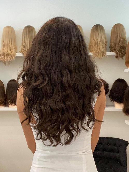 """22"""" Premium Remy Wig - Naturally Wavy - Dark Brown"""