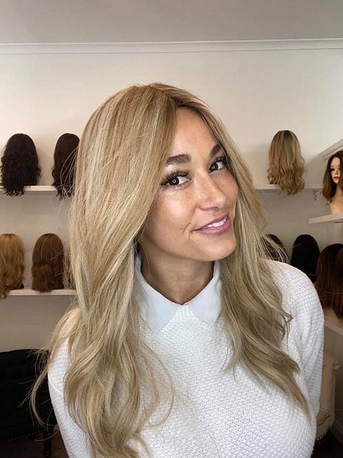 "22"" Premium Remy Human Hair Wig - Ash Blonde"