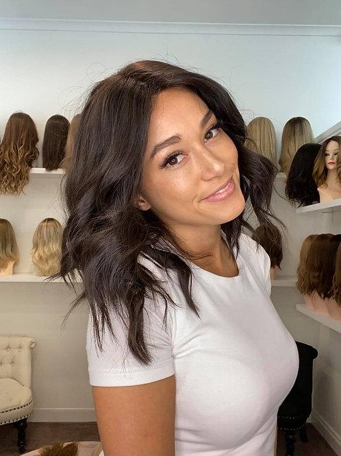 "14-15"" Luxury European Wig -Soft Black #2"