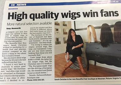 Mosman premium human hair wig store opens in sydney. High quality wigs and unique hair store