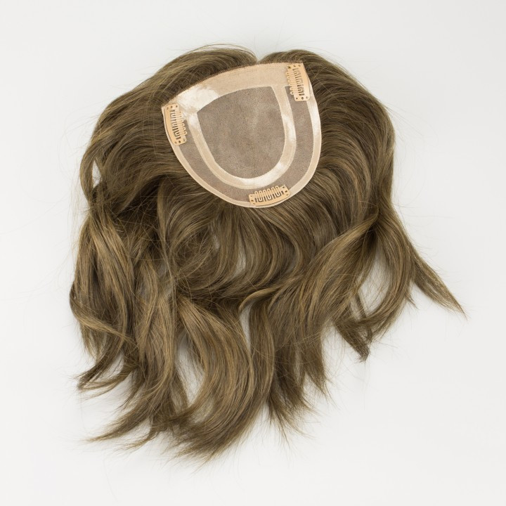 Crown extension or hair topper for thinning hair and hair loss in women