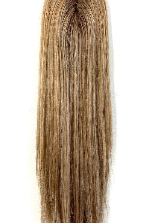 "20"" Premium Remy Human Hair Mini Topper - Dimensional Blonde"