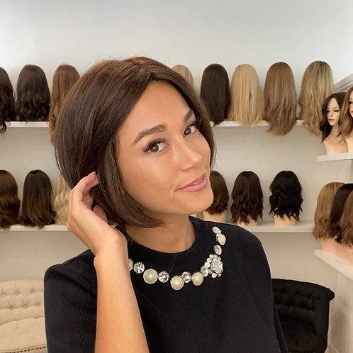 "10"" Luxury European Wig - Dark Brown#4"