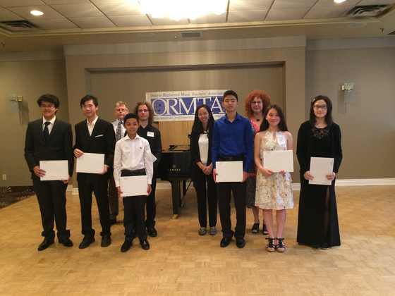 2017 ORMTA Provincial Student Competition, July 22, 2017