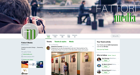 FATTORI media builds Twitter pages for its clients