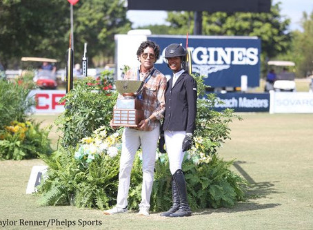 Mavis Spencer Receives M. Michael Meller Style of Riding Award at 2017 Palm Beach Masters
