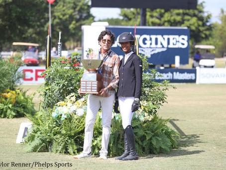 Mavis Spencer Receives M. Michael Meller Style of Riding Award at 2017 Palm Beach Masters