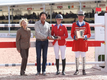 Lillie Keenan Presented with Kate Nash Boone Style Award During Nations Cup Week at WEF