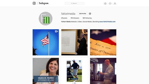 FATTORI media builds Intagram profiles for its clients