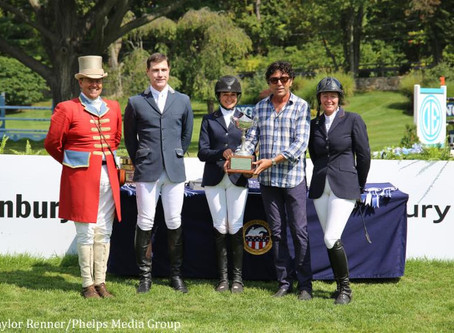 M. Michael Meller Presents Style Award to Heather Caristo-Williams at 2017 American Gold Cup