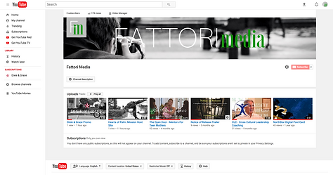 FATTORI media builds YouTube channels for its clients