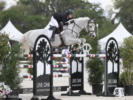 Gallagher/Meller Sport Horses Presents Leading Rider and Style Awards at 2018 Live Oak International