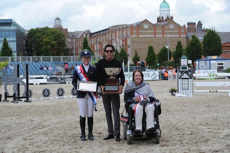 LEFT TO RIGHT: JENNY RANKIN, MICHAEL MELLER AND DEIRDRE BOURNS - PHOTO COURTESY OF THE DUBLIN HORSE SHOW