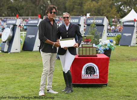 E2 Show Jumpers Presents Leading Rider and Style Awards at 2017 Live Oak International