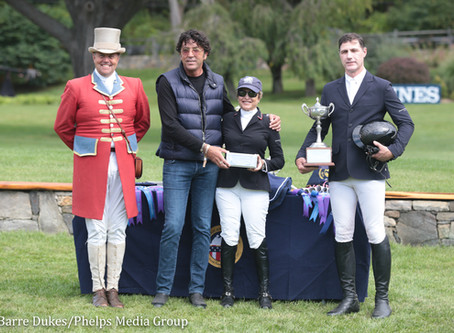 Margie Engle Receives M. Michael Meller Style of Riding Award at the 2018 American Gold Cup