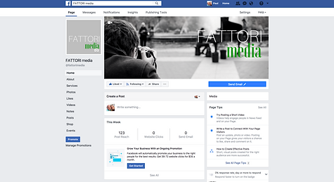 FATTORI media builds Facebook business pages for its clients