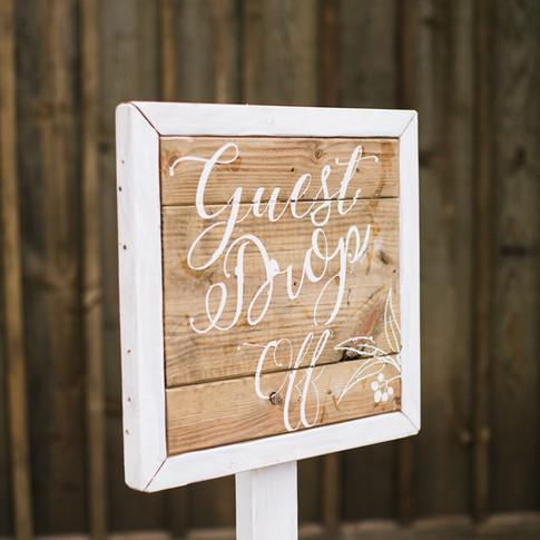 Guest Drop off Sign