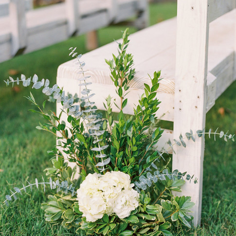 Ceremony Benches- Aisle Floral