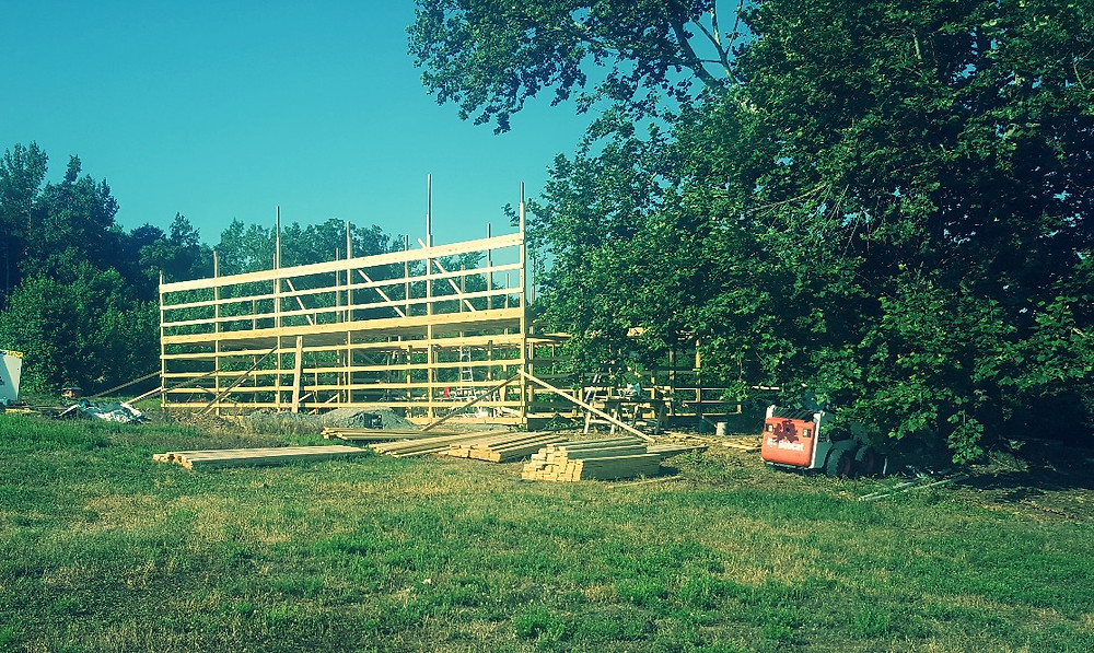 Walls are going up on the sides! 18 ft Side Walls