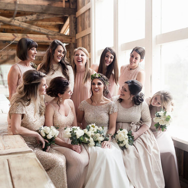Bridal Party Photos in Loft