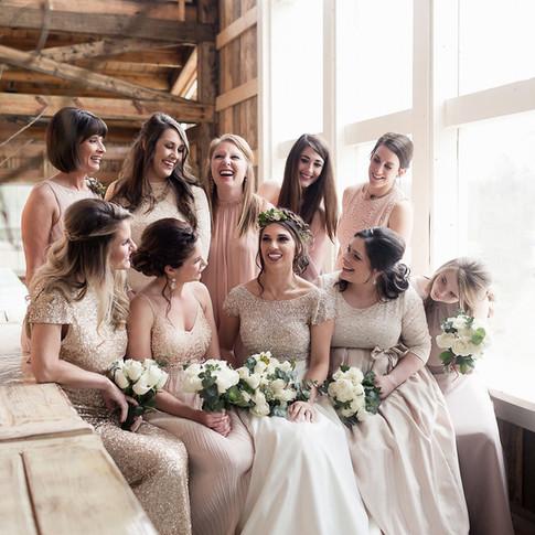 Bridal Party Photos in Loft