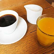 Hot Coffee or Orange juice