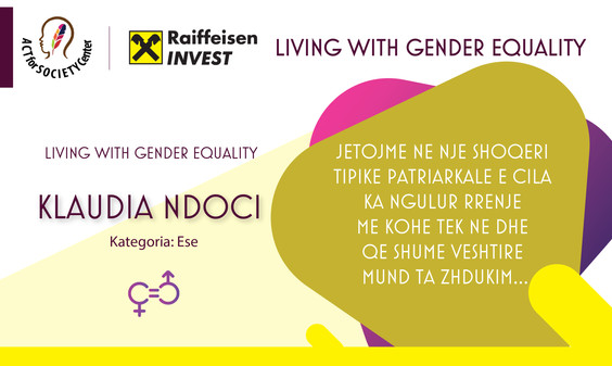 Konkursi LIVING WITH GENDER EQUALITY: Klaudia Ndoci