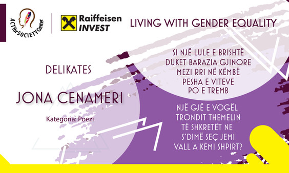 Konkursi LIVING WITH GENDER EQUALITY: Jona Cenameri