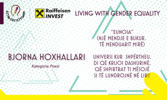 Konkursi LIVING WITH GENDER EQUALITY: Bjorna Hoxhallari